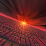 Abstract Technology Horizon Stock Image