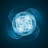 Abstract technology illustration. Stylish concept Royalty Free Stock Photography