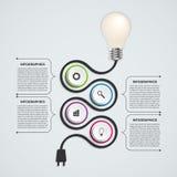 Abstract technology infographics design template. Light bulb. Vector illustration Stock Photo