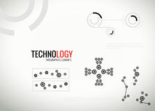 Abstract  technology infographics elements Stock Image