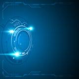 Abstract technology innovation concept digital circular design background. Eps 10 vector Royalty Free Stock Photos