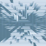 Abstract Technology Levels Layers on Blue. A digital technology background abstract of a structure of levels of blue planes Royalty Free Stock Images