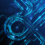 Abstract technology line background