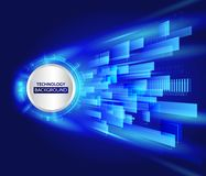 Abstract technology line background. Futuristic transferring inf. Ormation. Big data visualization. High tech vector illustration Stock Image