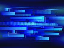 Abstract technology line background. Futuristic transferring inf. Ormation. Big data visualization. High tech vector illustration Stock Images