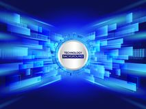 Abstract technology line background. Futuristic transferring inf. Ormation. Big data visualization. High tech vector illustration Stock Photography