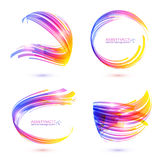 Abstract technology lines vector frames set Stock Photography