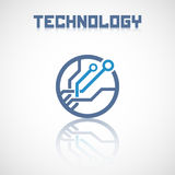 Abstract technology logo with reflect. Royalty Free Stock Images