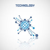 Abstract technology logo with reflect. Stock Photo
