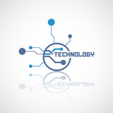Abstract technology logo with reflect. Royalty Free Stock Photography