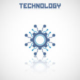 Abstract technology logo with reflect. Stock Image
