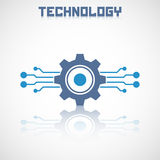 Abstract technology logo with reflect. Royalty Free Stock Image