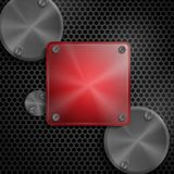 Abstract Technology Metal Texture Button. Royalty Free Stock Photography
