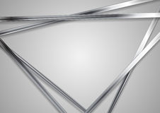 Abstract technology metallic triangles vector background Stock Photo