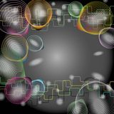 Abstract technology. Networking on glay background royalty free illustration