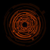 Abstract technology orange circles background Stock Photography