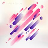 Abstract technology pink and purple geometric rounded lines patt. Ern motion background modern style. Vector illustration stock illustration