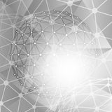 Abstract technology polygonal  background. Stock Image