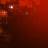 Abstract Technology Red Background Stock Image