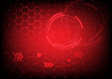 Abstract technology on red background. Rgb mode vector illustration