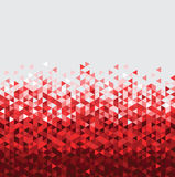 Abstract technology red background  with triangle Stock Image
