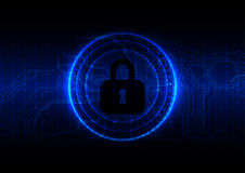 Abstract technology security on circuite and digital background. Royalty Free Stock Photo