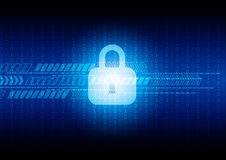 Abstract technology security on digital background, vector illus. Tration Stock Photo