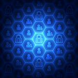 Abstract technology security on global network background, vector illustration. Innovation Royalty Free Stock Photos