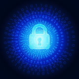 Abstract technology security on global network background, vector illustration Royalty Free Stock Photo