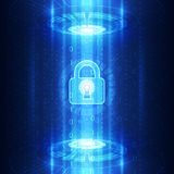 Abstract technology security on global network background, vector illustration Royalty Free Stock Photography