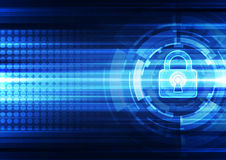 Abstract technology security on global network background, vector illustration. Innovation Stock Image