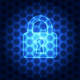 Abstract technology security on network background, vector illustration Stock Photo