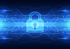 Free Abstract Technology Security On Global Network Background, Vector Illustration Royalty Free Stock Images - 51471319