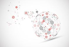 Abstract technology sphere background. Global network consept. Royalty Free Stock Images