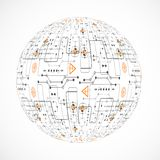 Abstract technology sphere. Vector illustration Stock Photography