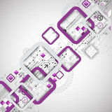Abstract technology square background Stock Image