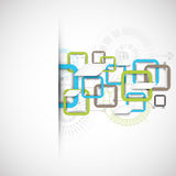 Abstract technology square background. Vector Royalty Free Stock Photography