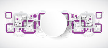 Abstract technology square background. Vector Royalty Free Stock Photos