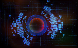 Abstract technology-style background-code zero one royalty free stock image