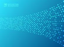 Abstract technology style dots neon pattern curve on blue background. Vector illustration vector illustration