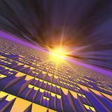 Abstract Technology Sun Burst Background Stock Photo