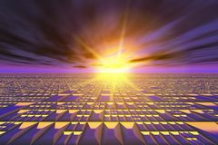 Abstract Technology Sun Burst Background Royalty Free Stock Images