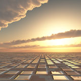 Abstract Technology Sun Sky Background Stock Images