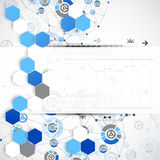 Abstract technology template background. Royalty Free Stock Image