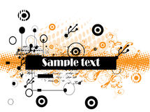 Abstract technology text banner Royalty Free Stock Photography