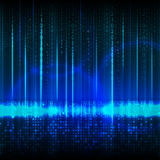 Abstract technology theme and composition of numbers. Background Stock Photo