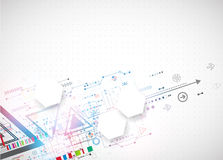 Abstract technology triangle background. royalty free illustration
