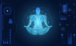 Abstract technology ui futuristic concept human body hud interfa vector illustration
