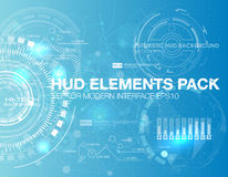 Abstract technology vector background. HUD UI communication concept banner in blue background Royalty Free Stock Photography