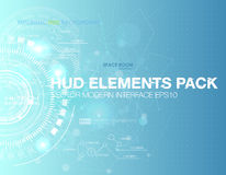 Abstract technology vector background. HUD UI communication concept banner in blue business background. Abstract technology vector background. HUD UI Royalty Free Stock Photos
